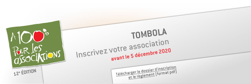 Tombola 100 % pour les associations