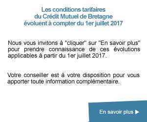 Conditions tarifaires applicables à partir du 1er juillet 2017