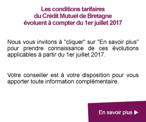 Conditions tarifaires applicables à partir du 1er juillet 2017
