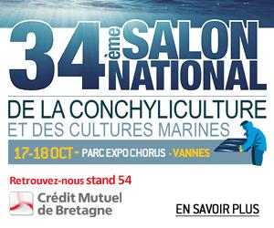 Venez rencontrer le Crédit Mutuel de Bretagne au Salon sur la conchyculture à Vannes, les 17 et 18 octobre 2018