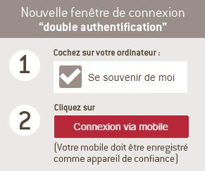 Evolution de la fenêtre d'authentification en 2 étapes