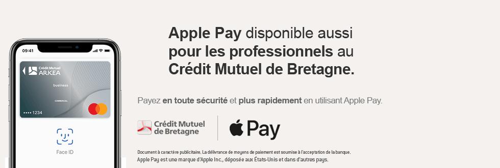 Apple Pay Pro disponible aussi pour les professionnels au Crédit Mutuel de Bretagne